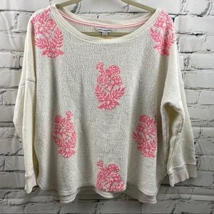 2 for $15 American eagle pink flower sweater